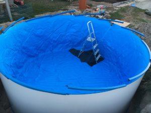 Warmwasser, um die Falten glatt zu streichen
