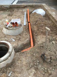 Anschluss Entwässerung