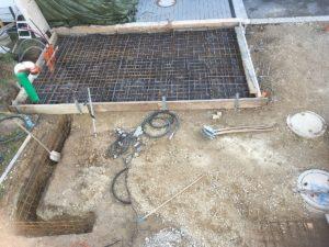 Schalung und Armierung Bodenplatte